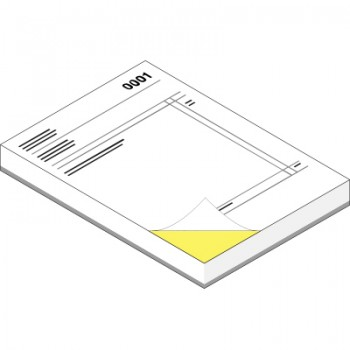 A4 NCR Pads (2 Part - Printed Face Full Colour & Reverse 1 Colour)