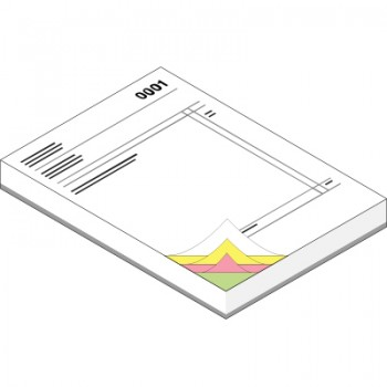 A4 NCR Pads (4 Part - Printed Face Full Colour & Reverse 1 Colour)
