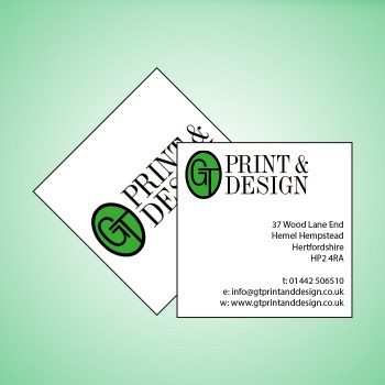 Square Single Sided Business Cards