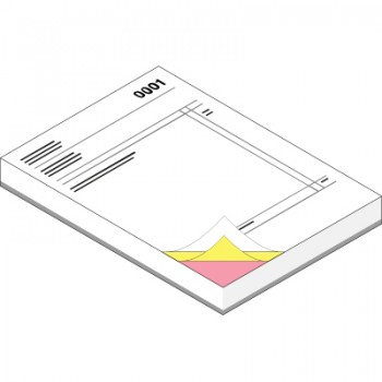 A5 NCR Pads (3 Part - Printed Face Full Colour & Reverse 1 Colour)