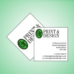 Square Double Sided Business Cards