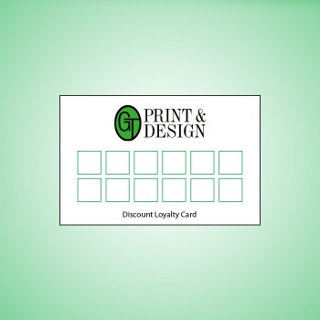 350gsm Double Sided Loyalty Cards