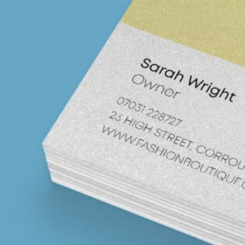 Metallic Double Sided Business Cards